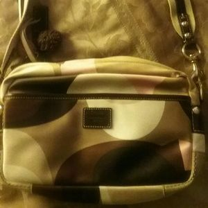 Coach tri color bag